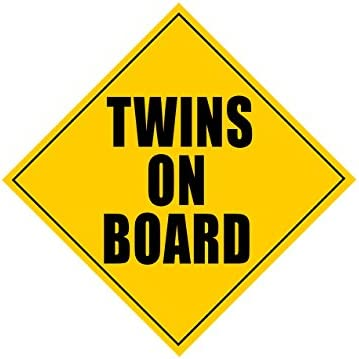 Twins on board car sign