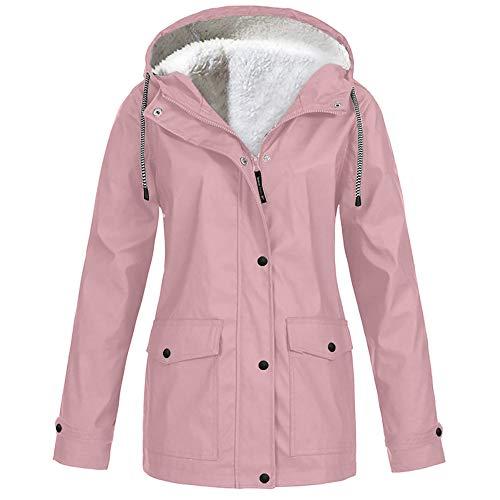SalmophC Veste de Ski imperméable pour Femmes Manteau de Neige d'hiver Chaud à Capuche imperméable Montagne Veste de Ski imperméable Vestes Coupe-Vent Manteau de Sport