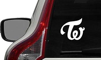 Twice TW Logo Car Vinyl Sticker Decal Bumper Sticker for Auto Cars Trucks Windshield Custom Walls Windows Ipad MacBook Laptop Home and More  White