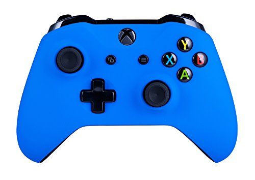Xbox One S Wireless Controller for Microsoft Xbox One - Soft Touch Cool Blue X1 - Added Grip for Long Gaming Sessions - Multiple Colors Available