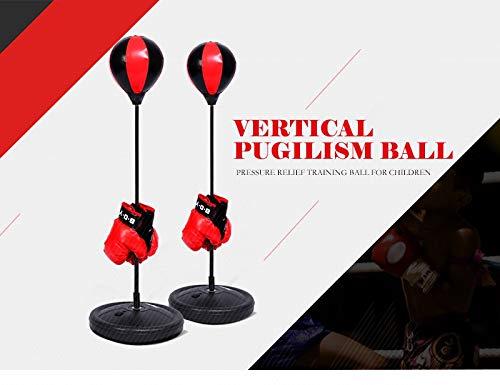 Bokszak Reflex Bokszak met standaard, in hoogte verstelbaar Bokszak voor kinderen Ball Box Speed Boxing Sport Set vechtspel met handschoenen
