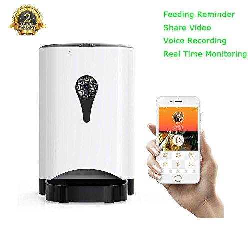 Cat Feeder,PetFun Automatic Cat Food Dispenser Smart...