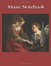 Music Notebook: 50 pp. Sheet Music Format:  Saint Cecilia and an Angel