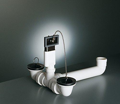 FRANKE Ablaufgarnitur / Stopfenventil für EUROSTAR Edelstahl Einbauspülen mit 2 Becken