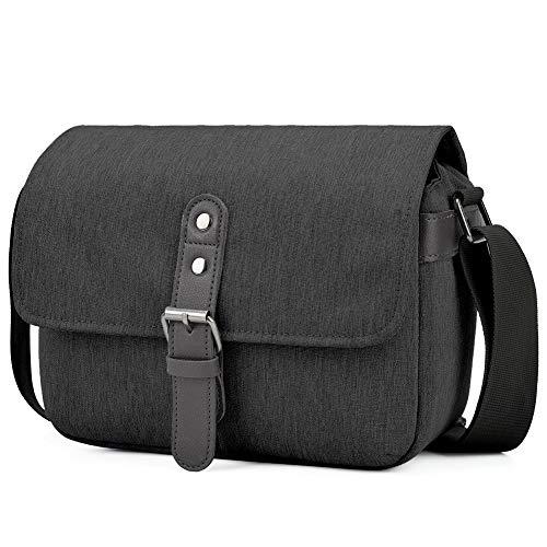 CADeN Kameratasche, DSLR SLR Foto Tasche Stoßfest Fotorucksack Bag Padded Einsatz Kompatibel mit 1 spiegelreflexkameras Sony Canon Nikon 1 Objektiv(Schwarz)