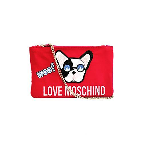 Love Moschino Clutch / Kosmetiktasche, Rot