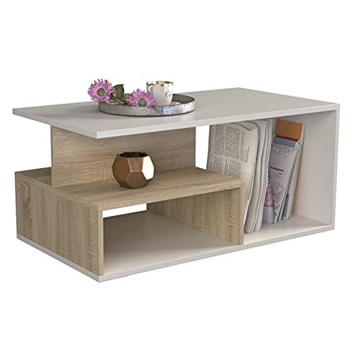 ADGO Prima - Mesa de café (90 x 51 x 43 cm,...