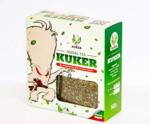 Kuker Tee für das Immunsystem 50g Loose Leaf | Kuker Brand | Kräutertee Mix Thymian Tee Hagebutten Tee Brennnessel Tee Lavendel Tee Basilikum Tee Koriander | Getrocknete Kräuter