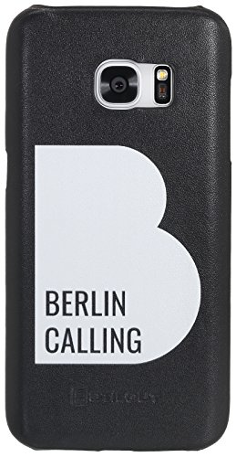 StilGut Berlin Calling, Leder-Cover, Like Berlin Edition, Backcover für Samsung Galaxy S7, Schwarz Nappa