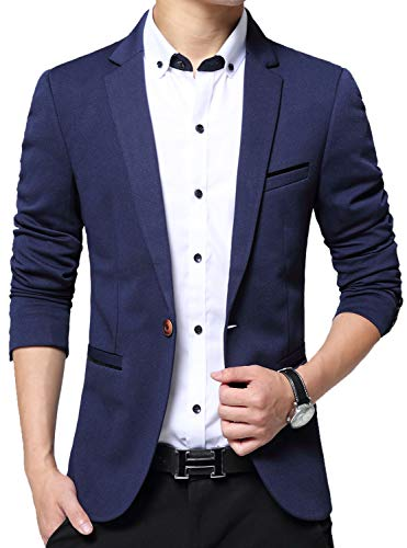 COOFANDY Men's Casual Blazer Sports Coats Lightweight Suit Jackets One Button