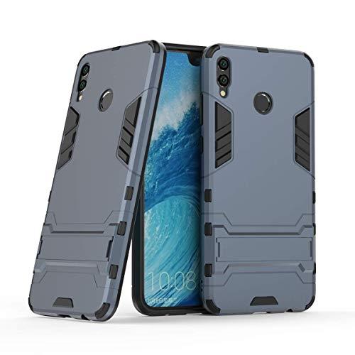 Honor 8X MAX Funda, FoneExpert® Heavy Duty Silicona Slim híbrida con Soporte Cáscara de Cubierta Protectora de Doble Capa Funda Caso Cover para Huawei Honor 8X MAX
