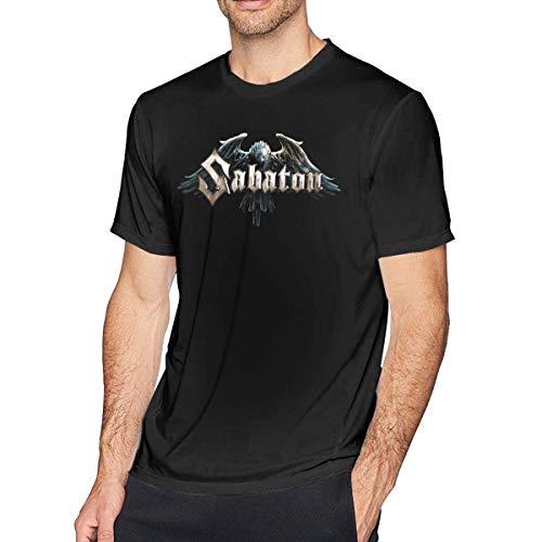 Free World Herren Sabaton T-Shirt Music Band Logo Lustiges Kurzarm T-Shirt