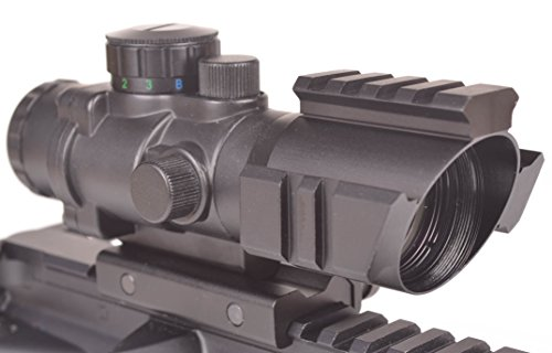 OZARK ARMAMENT 4X Illuminated BDC Reticle Rifle Scope