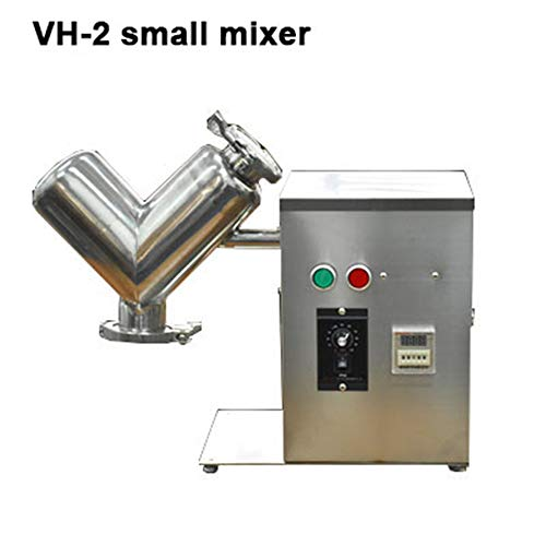 Yuhappy VH-2 2L Small V Type Powder Mixer Mixing Machine Blender for Pharmaceutical Food (110V) Nebraska