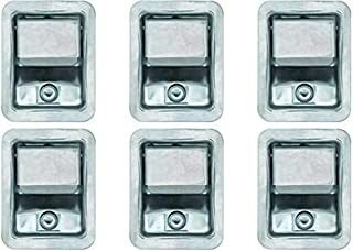 Set of 6, Buyers Products L3885RLS-x6 Stainless Steel Rotary Paddle Latch and Gasket for Tool Box Door, Truck Body, Utility Body