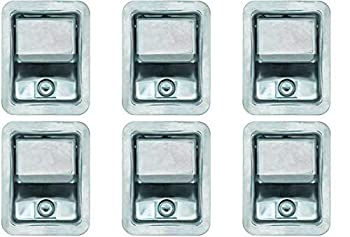 Set of 6 Buyers Products L3885RLS-x6 Stainless Steel Rotary Paddle Latch and Gasket for Tool Box Door Truck Body Utility Body