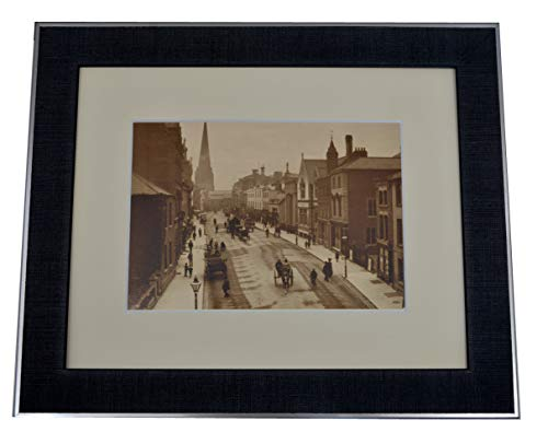 Impression encadrée de Broad Street Hereford in Herefordshire c1890 Cadre Photo Vintage Contemporain 25,4 x 20,3 cm