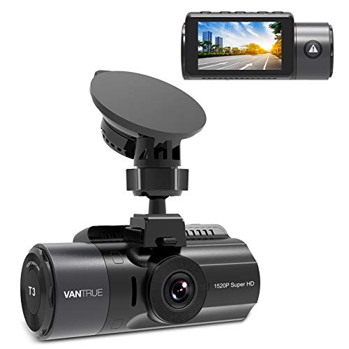 Vantrue T3 1520P 24/7 Dash Cam with Radar Detection Parking Mode, Supercapacitor Car Dashboard Camera with Night Vision, OBD Hardwired Cable, 160° Wide Angle, Support up to 256GB