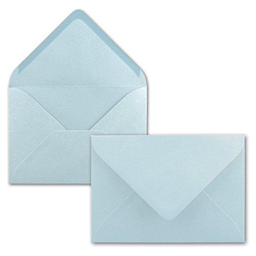 Brief-Umschläge in Hellblau - 25 Stück - DIN C5 Kuverts 22,0 x 15,4 cm - Nassklebung ohne Fenster - Weihnachten, Grußkarten - Serie FarbenFroh®