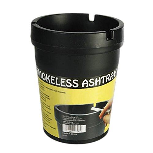 OOTB Aschenbecher Sturmaschenbecher Windaschenbecher Rauchfrei Kunststoff ca.10·8cm Schwarz