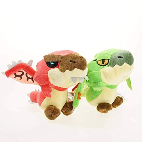 JMHomeDecor Muñecos De Peluche 2 Piezas Monster Hunter Freedom Game Plush Dragon Toys