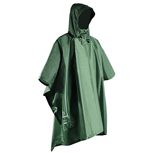 Adult Poncho Raincoat Outdoor Camping Emergency Hooded Cloak Rain Coat
