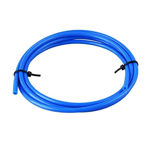 PoPprint, tubo in Teflon e PTFE da 2 metri (diametro esterno: 4,0mm; diametro interno: 2,0mm), filamento da 1,75 mm, per stampante 3D (blu)