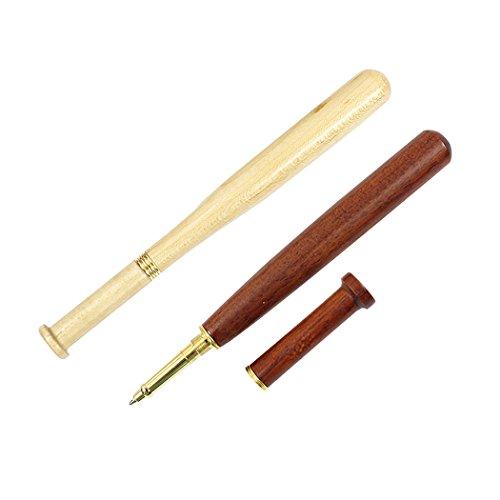 Sipliv Satz von 2 Palisander und Ahorn Holz Baseball Roller Kugelschreiber Set handgefertigten Holz Stift Retro Sammlung Geschenk Stift