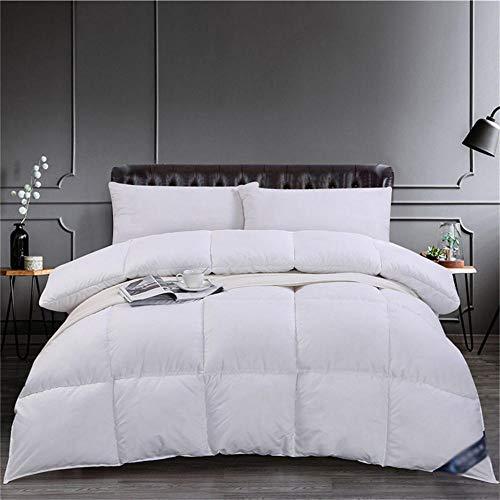 DOPBAY Hypoallergene Bettdecke Winter warme Bettdecke Weiße Daunendecke warm und weich 3 Größen -180 * 220cmBettdecke