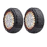 FSDGHSD TPU Snow Chains Tire Chains Car Anti Slip Snow Tire Chains Adjustable Anti- Skid Chains Car Tire Snow Chains for Car/SUV/Trucks (Size : 225-R18)