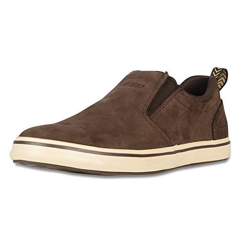 XTRATUF Sharkbyte Men's Nubuck Leather Deck Shoes, Chocolate (22501), 10.5, Men's