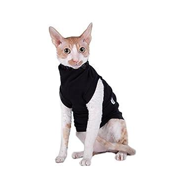 Kotomoda vêtements pour Chat Col roulé Maxi pour Chat Chat Noir (XL)