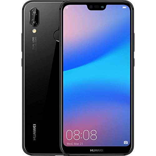 "HUAWEI P20 Lite (32GB + 4GB RAM) 5.84"" FHD+ Display, 4G LTE Dual SIM GSM Factory Unlocked Smartphone ANE-LX3 - International Model - No Warranty (Midnight Black) Connecticut"