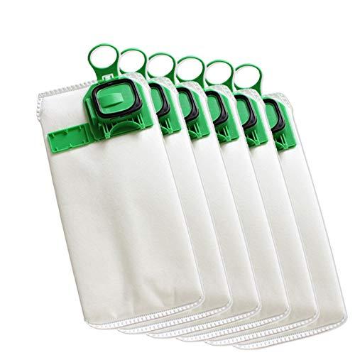 SDFIOSDOI Piezas de aspiradora Bolsa de Filtro de Polvo de Repuesto 6PCS Ajuste para VORWERK VK140 VK150 FP140 FP150 Vacío Limpiador de aspiración No Tejido Bolsas de Alta eficiencia
