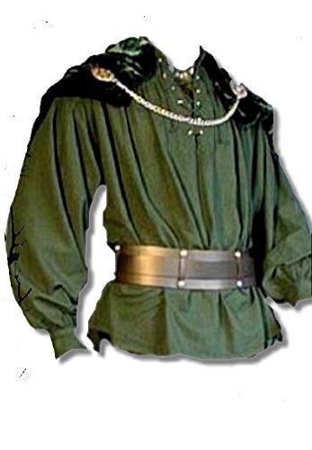 Inter Moden Mittelalter Markthemd - Herren Osgur M/dklgrün