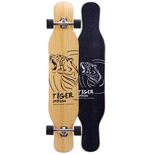 Best Bargain Trick Skateboard Dancing Longboards Skateboard 46 Inch Pro Speed Complete Drop Down Thr...