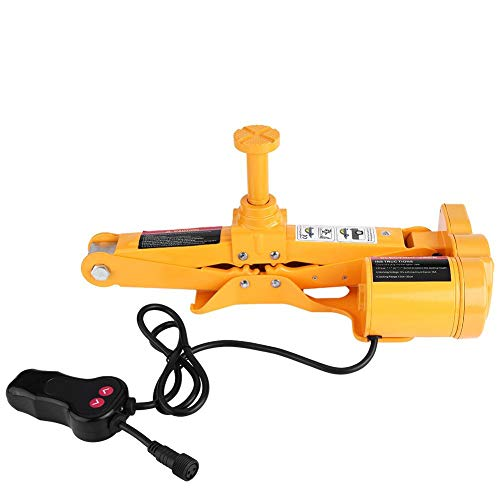 Electric Car Jack, 3 Ton 12V DC Hydraulic Automotive Car Floor Jack with Storage Box Portable Car Repair Tool Kit for Tire Change Replacement
