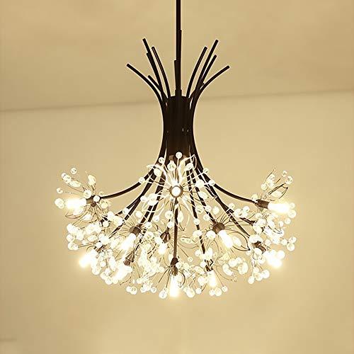 WHSS Luz Posmoderna Lámpara De Cristal De Lujo Dormitorio Simple Lámpara De Ramo Arte Creativo Sala De Estar Comedor Decoración Lámpara LED Dandelion Chandelier