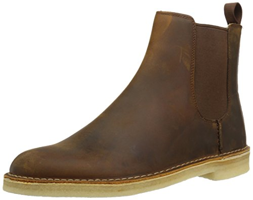 Clarks Men's Desert Peak Boot, beeswax leather, 9.5 Medium US