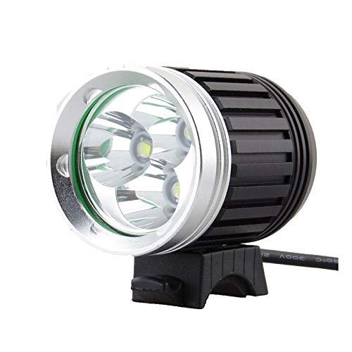 Fahrradlichter, 4 Modi 1000Lm wasserdichte Scheinwerfer 3 X CREE XM-L T6 Scheinwerfer und Fahrradlichter + 8,4 V 5600mAh Akku + Ladegerät, zum Wandern im Freien, Radfahren, Camping, Radfahren