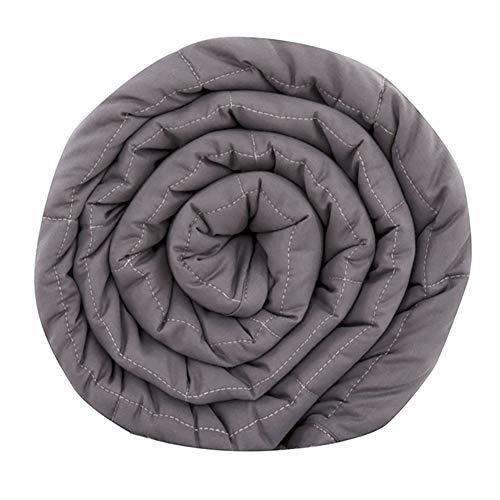 TINE Gewichtsdecke Aus 100% Baumwolle, Schwere Decke Anti Stress, Beschwerte Decke Grau, Therapiedecke, Weighted Blanket Für Erwachsene Und Kinder100*150Cm, 3.2Kg,90 * 120 cm (2.3kg)