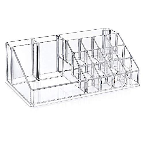 Acryl Cosmetic Aufbewahrungsbox,Clarity Waschtisch-Organizer,Für Schmuck, Accessoires, Kosmetik, Hautpflegeprodukte,Transparent