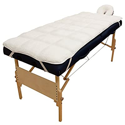 Body Linen Abundance Deluxe Quilted Fleece Massage Table Pad Set - Lint Free, Extra Soft and Cushy Multicolor 1 Count