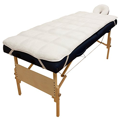 Body Linen Abundance Deluxe Quilted Fleece Massage Table Pad Set Lint Free, Extra Soft and Cushy, Multicolor