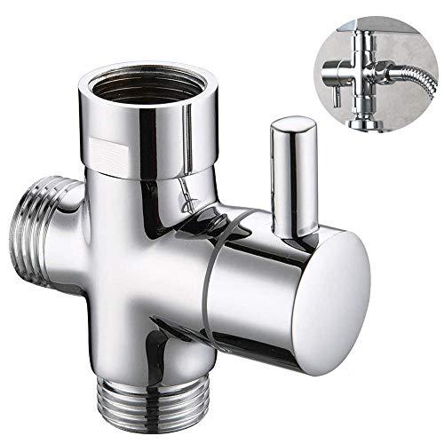 Dusche Adapter Umstellventil, 3 Wege Ventil Umstellventil, Massives Messing Brause Dusche Umschaltventil, für den Austausch von Komponenten im Badezimmer Küchenduschsystem