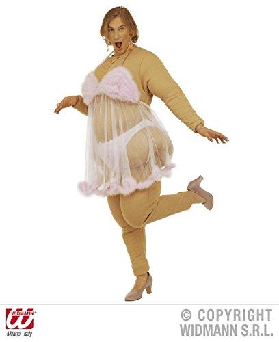 KOSTÜM - DICKER STRIPPER - Größe 52 (L), Stripteasetänzerin Stripteasetänzer Travestie Sexy Fatsuit