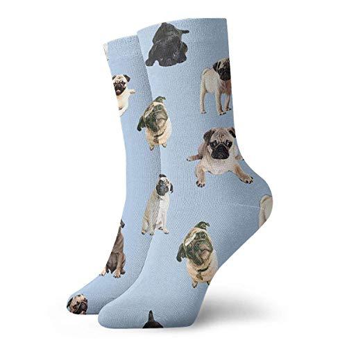 NCH UWDF Mops des lustigen Mops, der Yoga Macht Erwachsene Kurze Socken Coole Socken für Herren Damen