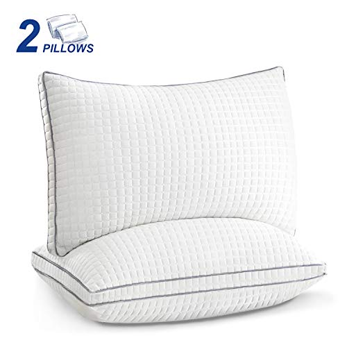 King Size Pillows Set of 2,Luxury Hotel Down Alternative Sleeping Bed Pillows with Adjustable Soft Plush Fiber Fill, Hypoallergenic Pillows for Back, Stomach, Side Sleepers
