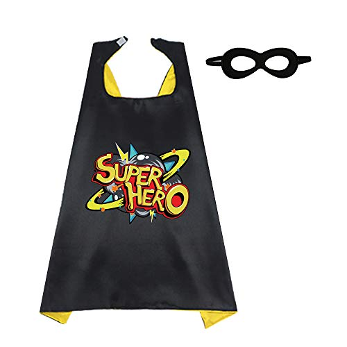Kids Reversible Superhero Cape + Mask
