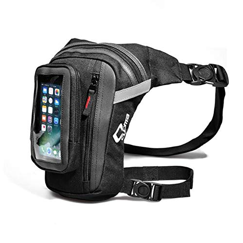 VOANZO Motorrad Drop Bein Tasche Umhängetasche Schnellverschluss Handy Oberschenkeltasche Daypack für Männer Hohe Kapazität (265mm x 180mm x 40mm)